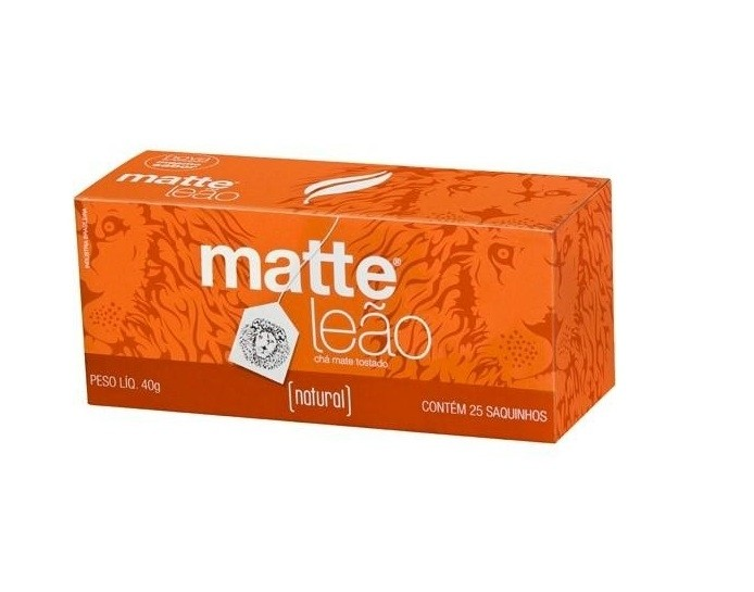 Chá Matte LEÃO Natural c/50 saches